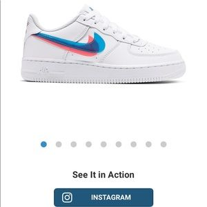 "Nike Air Force 1 LV8 ""3-D"" Grade School Kids' Shoe"